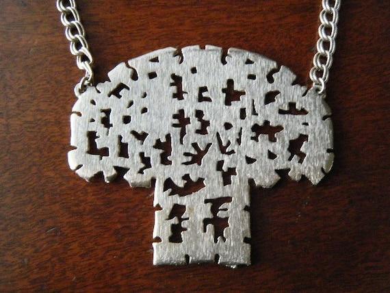 Vintage Huge Tree Necklace