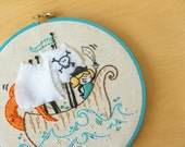 NEW - Pirate Betty - Embroidered Wall Decor