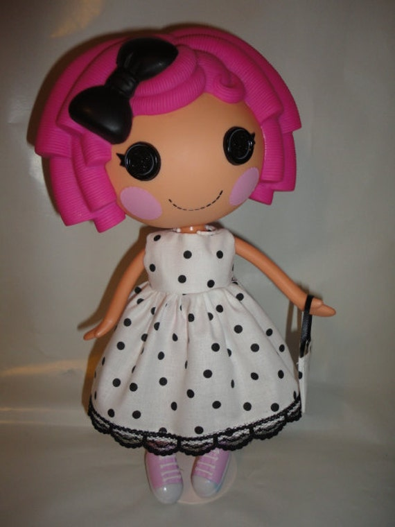 Lalaloopsy cute white polka dots dress and  bag
