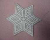 Beaded shimmering star