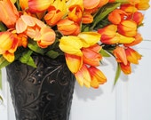 FREE SHIPPING-Tulip Wreath-Spring Door Wreath