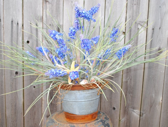 Nautical beach grass centerpiece sale