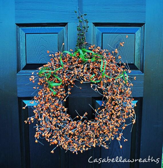 Pumpkin Berry Wreath-Fall Wreath