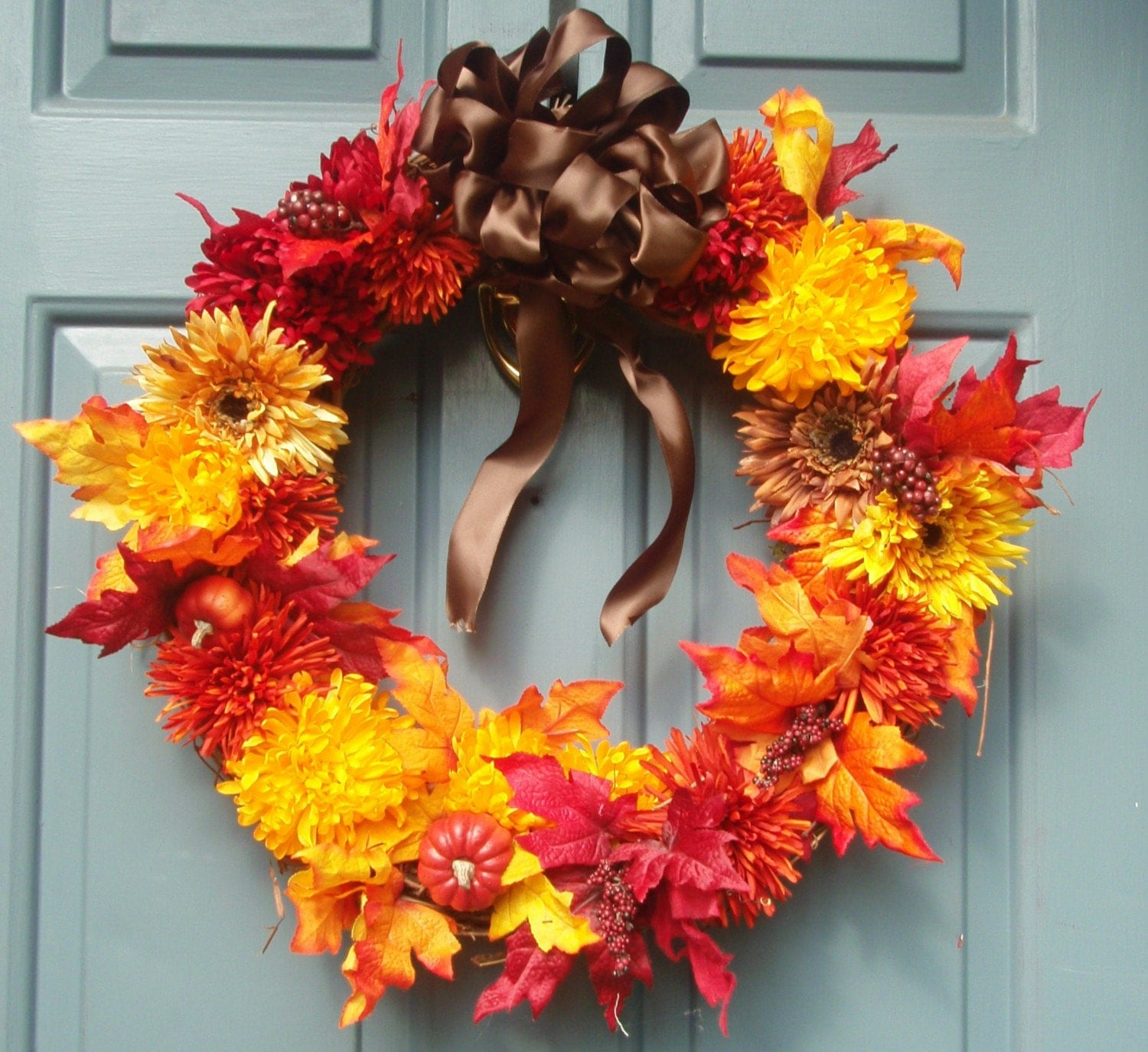 Autumn fall door wreath on sale Fall autumn door wreaths