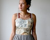 Rusty Cuts Globe Sweetheart Mini Dress Sz L