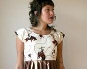 Western Rodeo Mini Dress with Conch Sz XS S M L Rusty Cuts