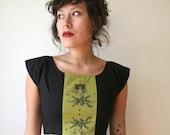 Olive Hourglass Polka Dot Mini Dress Sz XS S M L Rusty Cuts
