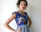 Horse Tapestry Striped Mini Dress Sz XS S M L Rusty Cuts