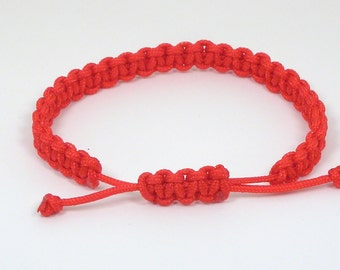 Mens Chinese Good Luck Red String Bracelet