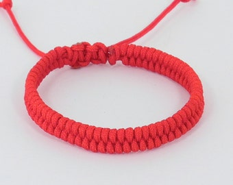Mens Good Luck Red String Bracelet