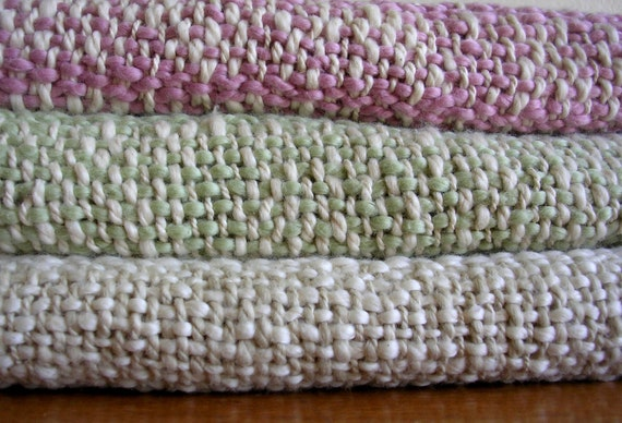 Handwoven Organic Cotton Baby Blanket