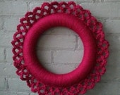 housewarming wreath // cranberry