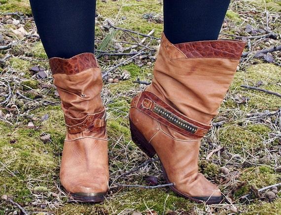 RESERVE for armst001 Vintage 1970s Endicott Johnson Lady Cowboy Boot Amazing-ness