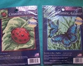 Butterfly and Ladybug  Needlepoint Kits