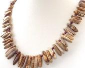 Necklace tribal gemstone garnet