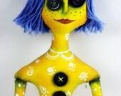 SALE Coraline Art Doll Fabric