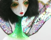 Art Doll Emerald Dragonfly Unique Collectible