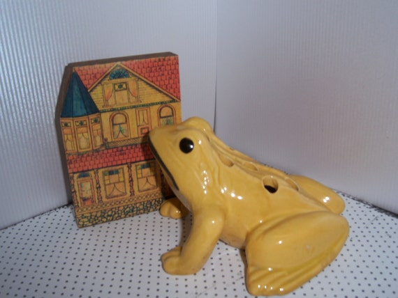 Mid Century Flower Frog in the Shape of a Frog