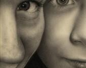 2-subject Charcoal Portrait 8x10