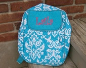 Quilted Damask Backpack