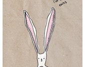 Bunny ears sympathy or friendship card