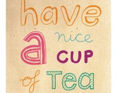 cup of tea mini card
