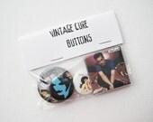 vintage Cure button assortment