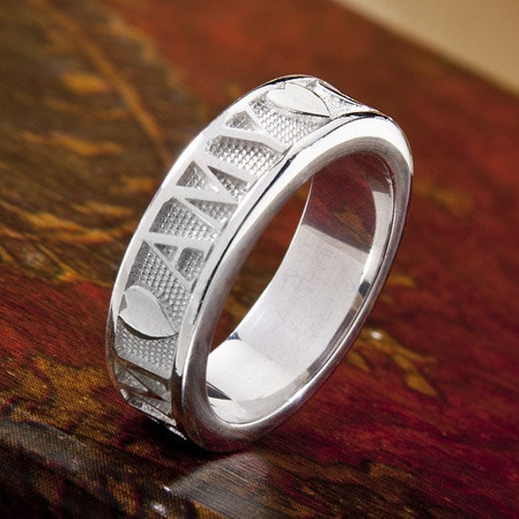personalized name ring in sterling silver 6mm