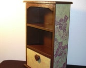 Brown mini hutch