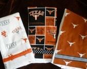 Set Of Three University Of Texas  Burp pads