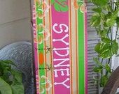 4FT SURFBOARD.  All Hand Painted.  Tropical Hawaiian wall art decor WaLL HaNGING. 150 Designs 3 Sizes