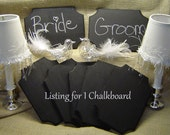 1 CHALKBOARD Fancy Beveled Edges Wedding Shabby Rustic Photo Prop Table Numbers Place Cards.  Bride Groom. Ships in 3 days