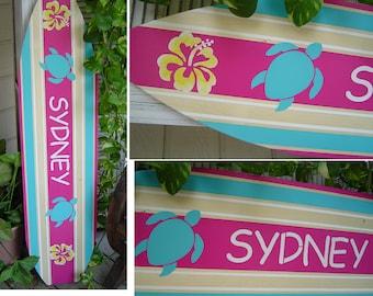 4 FOOT Surfboard Hawaiian wall art decor Room Decor. Headboard. / Surfboard Wall Hanging Decor