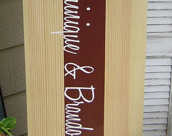 4FT SURFBOARD  Hawaiian Beach Wedding Alternative Sign In Book Brown. PeRSONALIZED. Surf Decor / Lots Designs 2 sizes. Pick Color SALE