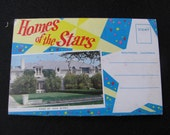 Vintage Postcard, Fold Out, Greetings from Hollywood, California, Home of the Stars ..FREE Shipping
