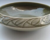 Celadon Green Bowl with Folded Rim