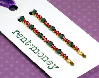 beaded bobby pins - patti in berry smoothie