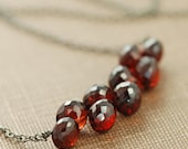 Garnet Jewelry, January Birthstone Necklace Sterling Silver, Red Gemstone Necklace, Winter Fashion, aubepine