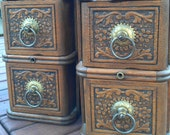 Reserve Listing - Set of Vintage Sewing Machine (4) Drawers with Holders