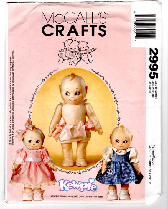 "2000 UnCut McCall's 2995 Craft Sewing Pattern - Kewpie 14"" Doll: Included are Pattern Pieces for Doll and Clothes"