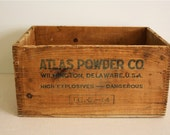 Vintage explosives wooden box, large crate