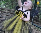 Bumble Bee Tutu Dress Costume 12M-5T   Great for Halloween Birthdays or Portraits
