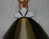 Reindeer Tutu Dress 0-5T Great for Christmas or Portraits