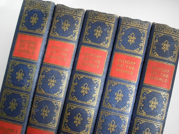 Vintage History Set, A History of the World in Five Volumes, Victor Duruy, 1937
