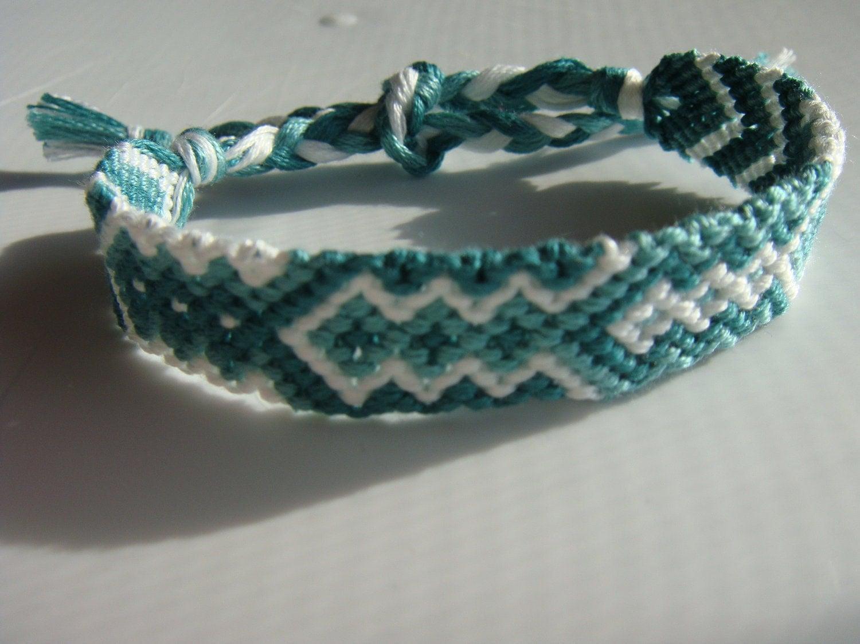 shades of green diamond friendship bracelet free by. Black Bedroom Furniture Sets. Home Design Ideas