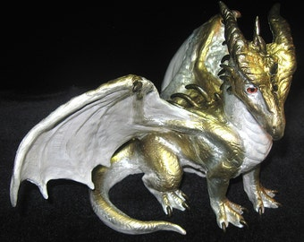 Golden Pearlescence Dragon Sculpture