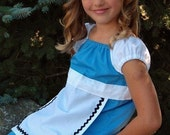 Alice in Wonderland Costume classic blue and white apron dress style