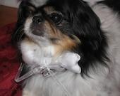 Dog Gone Fancy Bone Design Ring Bearer Pillow for Small Dogs