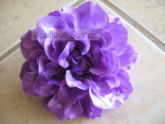 Large Silk Dahlia Flower Head - Grape - Single Flower Head