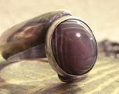 Lavendar Agate Twist Ring